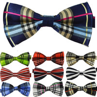 Wholesale Men Adjustable Bowties - NEW Man's Classic Bowties Brand Fashion Neckwear Adjustable Men Wedding Polyester Bowtie for Party