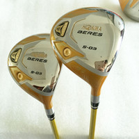 Wholesale golf clubs fairway woods resale online - New Golf clubs HONMA S star Golf Fairway wood Graphite Golf shafts and wood headcover