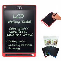 manyetik yazı tahtaları toptan satış-8.5 inç LCD Yazma Tablet Dokunmatik Pad Ofis Elektronik Kurulu Manyetik Buzdolabı Mesaj Ultra Parlak Yükseltilmiş Stylus ile Çocuklar Noel hediyeler
