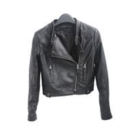 Wholesale Jacket Woman Pu Zip - 2016 New HOT Fashion Black Women Short Faux Leather Zip-Up Cropped PU Leather Jacket, Biker Jacket