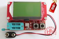 Wholesale Dip Meters - 12864 LCD Transistor Tester Diode Triode Capacitance ESR Meter MOS PNP NPN #Hot#55661, dandys