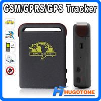 quads en línea al por mayor-Personal Auto Car GPS Tracker TK102 Banda cuádruple Sistema global de seguimiento de vehículos en línea Tarjeta TF Desconectado Tiempo real GSM / GPRS / Dispositivo GPS