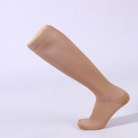 erkekler uyluk çorapları toptan satış-300 adet / grup 6 Renkler Çorap Kadın Erkek Antifatigue Sıkıştırma Çorap Basınç Diz Çorap Uyluk Bacak Varis Destek Damar Stocking
