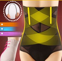 Wholesale Stomach Trimmer - Woman high waist control panties slim stomach cross design waist trimmer tummy control underwear butt lift black skin leopard
