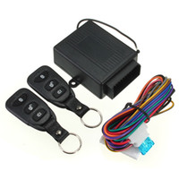 Wholesale Order Keyless Entry Remote - NEW Keyless Entry System Universal Car Kit Remote Control Central Lock+ 2 Remote Controllers + User Manual +Wire order<$18no track
