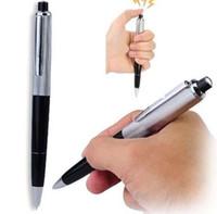 truques divertidos venda por atacado-April Fools Day chique canetas esferográficas Pen Shocking Choque Elétrico Toy Presente Joke Prank Truque divertido brincadeira truque brincadeira frete grátis