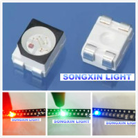 Wholesale Plcc Led - Wholesale-1000pcs 3528 RGB POWER TOP 1210 3528 SMD SMT PLCC-2 LED Common Anode Red Green Blue New light-emitting diodes RGB