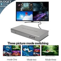 Wholesale Function Viewer - Freeshipping 4X1 HDMI Multi-viewer HDMI Quad Screen Real Time Multiviewer with HDMI seamless Switcher function full 1080P&3D