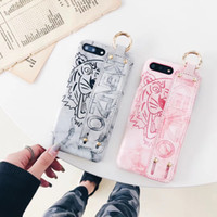 Wholesale Tiger Leather Case - for iphone X case Leather Cute Tiger Hand grip strap Marble soft tpu case for iPhone 7 8 6s 7 plus 6