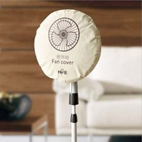 Wholesale Case Fan Cover - Wholesale- Useful Fashion Brief Non-woven Electric Fan Circle Fan Dust Cover Protection Case Baby Safety Fan Cover Storage Bag Organizer