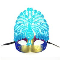 Wholesale Embroidery Half Face Mask - 2016 new Luxury Embroidery mardi gras mask Peacock painting Half Face Halloween masks princess Fashion cosplay masks