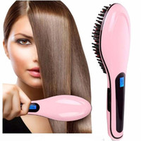 Wholesale Electric Magic Brush - Wholesale Hair Brush Electric Comb Hair Straightening Irons Instant Magic Silky Straight Styling Anion Hair Care Straightening Irons