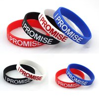 Wholesale I Promise - Wholesale-1 pcs Free Shipping LeBron James I PROMISE Silicone Bracelet Wristband Bracelet P0588