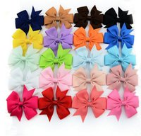 Wholesale Hairbows Character - 3 inch Grosgrain Ribbon Hair Bows WITH Clip,Baby Girl Pinwheel HairBows Hair Clips Hair Pins Accessories