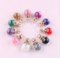 Wholesale Blue Pearl Studs - 2015 Summer Style Earrings Fine Pearl Jewelry Women Summer Style Fashion Stud Earrings HourGlass Stud Earrings