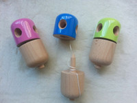 pille kendama spielzeug großhandel-Multicolor 5-Loch Pille Kendama Japanisches traditionelles Holzspiel Kinder Spielzeug Holz Kendamas Pille, Kendama Spielzeug