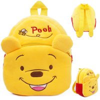 Wholesale Pooh Bag - 2016 New style Baby lovely cartoon Winnie the Pooh school bags kids cute Pooh design backpack boys and girls toys mini bags