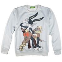 Wholesale Hd Bugs - w1217 2015 New tracksuit Women Men Bugs Bunny Print HD 3D Sweatshirts Cute cartoon Hoodies moleton masculino size S-XXL Free shipping