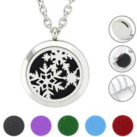 Wholesale Glass Aroma Diffuser - Free with Chain as Gift! Hot 30mm Aroma Locket Stainless Steel Perfume Diffuser Locket Necklace Jewelry