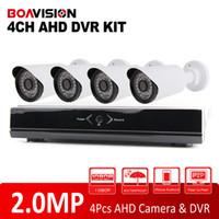 Wholesale New Dvr Surveillance System - New Full HD 4CH AHD DVR 1080P Kit + 4Pcs Outdoor 2MP Bullet AHD Camera 36 Leds IR Night-Vision AHD DVR Security System Surveillance Kits