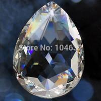 Wholesale Healing Crystal Lamps - Wholesale-10 Transparent Chandelier Glass gorgeous 33% Full Lead Crystal Healing Pendulum Lamp Prisms Hanging Pendants Rainbows