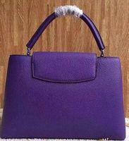 Wholesale Beige Leather Bucket Purse - Brand new Top quality women genuine Leather Capucines MM 36cm handbag tote purse