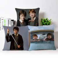 Harry Potter Style Throw Pillow Case Cuscino quadrato Fashion Decoracion per Natale Bar Home Restaurant Hotel Car 45 X 45 CM Lino