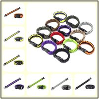 200Colors Survival Self-rescue Cord Rope Paracord Buckle Bracelet Military Bangles Homens Sport Outdoor Camping Climbing Aids Tool