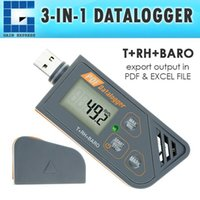 Wholesale Digital Humidity Data Logger - 88163 Digital Waterproof USB Datalogger Humidity Temperature and Pressure Barometric Data Logger gauge, generate PDF Excel report LED