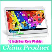 wcdma tablet pc sim großhandel-Neue kommen Dual-SIM-Karte 10-Zoll-Tablet PC MTK6572 Dual-Core 1GB 8GB Android 4.2 WCDMA 3G GSM-Telefon Anruf Phablet 1024 * 600 Dual-Kamera 002471