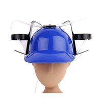 Funny Straw Helmet Bere Hat Beer Soda Dual Straw Bere Hat Natale Party Supplies Beverage Holder Cappelli per feste