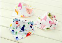 Wholesale Kerchief Bib Wholesale - Baby Cotton kerchief infant Saliva Bibs burp cloths Pinafore Apron Girls Pinny BB13