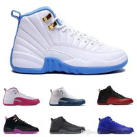 Wholesale Man Online Games - Newest 12 mens basketball shoes wool mens sneaker Black Nylon Blue Suede discount shoes flu game french blue sports shoes online