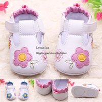 Wholesale Infant Leather Walking Shoes - Infant Shoes Baby First Walker Shoes Spring Summer Leather Baby Shoes Girls Flower First Walking Shoes Baby Footwear Baby Girls Shoe L43729