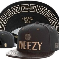 Wholesale Men S Snapback Hats - CAYLER & SONS C&S Goldie Cap,Cayler and Sons C&S Goldie Weezy Hats,Best Quality Snapback Cap,Beanie,Strapback Cap Headwear Black