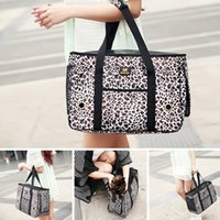 Venda Leopard Hot impressão Pet Carrier Cat Dog saco macio Sided Carriers bolsa dobrável Tote Crate Travel Bag Gaiola Para Pet HB0021 smileseller