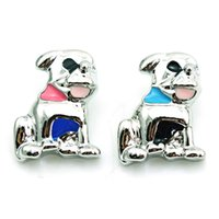 Wholesale Fashion Dog Accessories - Free Shipping 18mm Snap Buttons 3 Color Enamel Dog Metal Clasps Fashion DIY Ginger Snaps Chunk Accessories Jewelry