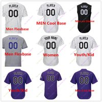 Wholesale Colorado Youth Baseball - Custom Blank Colorado Jersey Men Women Youth Baby toddler Size S, 4XL, 5XL Flexbase Cool Base Home Away All Stitched