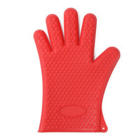 Wholesale Heated Hand Mitts - 1PCS Silicone Heat-resistant Oven Mitt Kitchen Baking Microwave BBQ Glove Anti Scald Protect Your Hands While Cooking