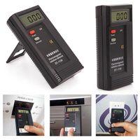 dozimetre test cihazı toptan satış-LCD Dijital Radyasyon Test Cihazları Dedektörleri EMF Metre Dosimetre Elektromanyetik Test Dedektörü DT1130 Perakende Paketi içinde 9 V Pil