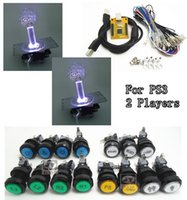 Wholesale Jamma Usb Controller - Wholesale-1 kit of 5V LIGHTING 2 players PC PS 3 2 IN 1 Arcade to USB controller 2 player MAME Multicade Keyboard Encoder, USB to Jamma
