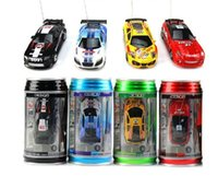 Wholesale Electric Motor Speed Controller - Free shipping drop shipping 5pcs COKE CAN mini rc car 1:63 high-speed remote control car