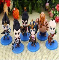 Wholesale Big Pendent - 30pcs 2015 new 6 style League of Legends LOL toys pendent mini Figure toys 10cm as Gifit for kids