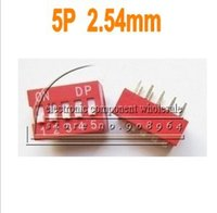 All'ingrosso-100pcs 5P 5pin Posizione DIP switch passo 2,54 mm 2 Linea 10 Pin DIP Switch