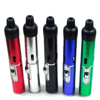 Wholesale Flame Glass - sneak a vape click n vape Mini Herbal Vaporizer smoking pipe Trouch Flame Lighter With Built-in Wind Proof Torch Lighters VS Glass Bong