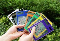 бесплатные электронные карты оптовых-Новая мода сенсорный экран электронный калькулятор мини прозрачный солнечной энергии 8 цифр кредитной карты бесплатная доставка