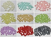 Wholesale Half Pearl Gem - 1000 Mixed Color Half Pearl Bead 6mm Flat Back Gem Scrapbook