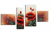Wholesale Olo Art - Huge red flower wall art Abstract modern oil paintings on canvas, wholesale oil paintings oLo PS_064