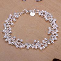 Wholesale Grape Bracelets - Hot sale best gift 925 silver Sand Light Grape bracelet DFMCH232,Brand new fashion 925 sterling silver Chain link bracelets high grade