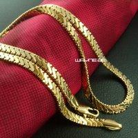 твердое 18-каратное золото для мужчин оптовых-Мужская цепочка из цельного золота 18 карат, 50 см, длина 4,5 мм, n272